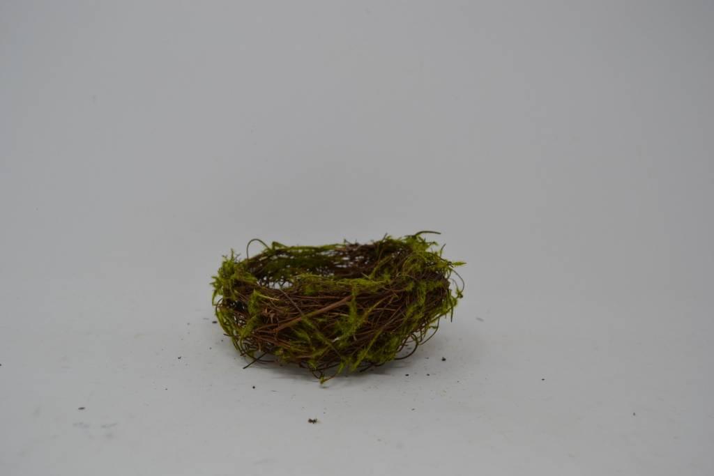 "4"" Mossy Vine Bird Nest"