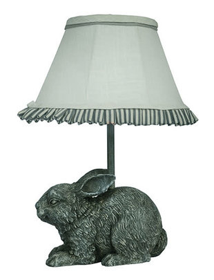 Gray Garden Bunny Accent Lamp