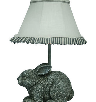 Gray Garden Bunny Accent Lamp