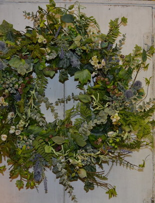 Garden Thistle Custom Wreath