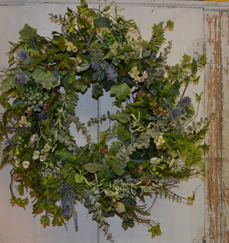 Garden Thistle Custom Wreath