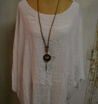 Beach Retreat Flowy Tunic w/ Necklace (3 Colors)