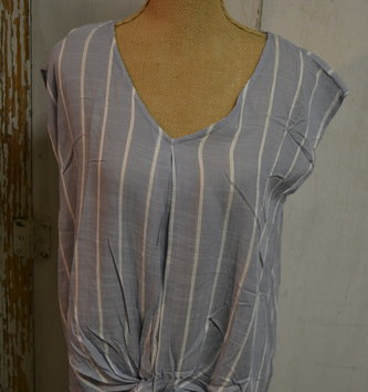 Nantucket Striped & Knotted Front Top