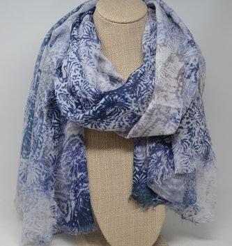 Indigo Batik Print Scarf