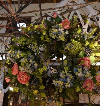 English Garden Nest Custom Wreath