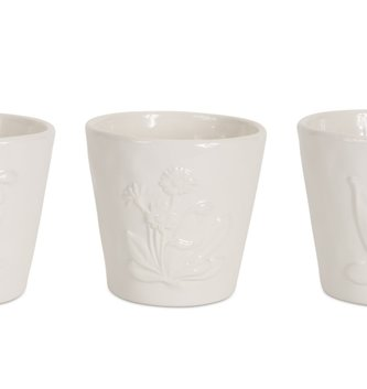 Small Floral Ceramic Pot (3 Styles)