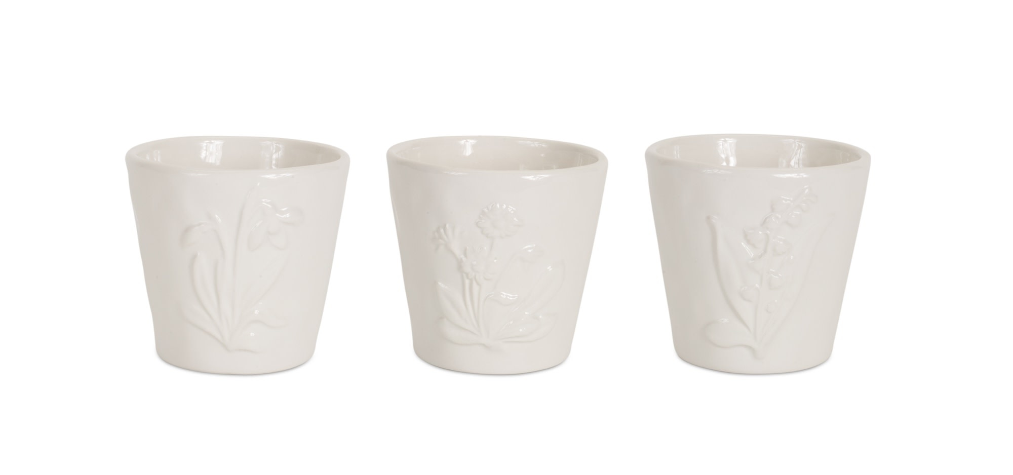 Small Floral Ceramic Pot