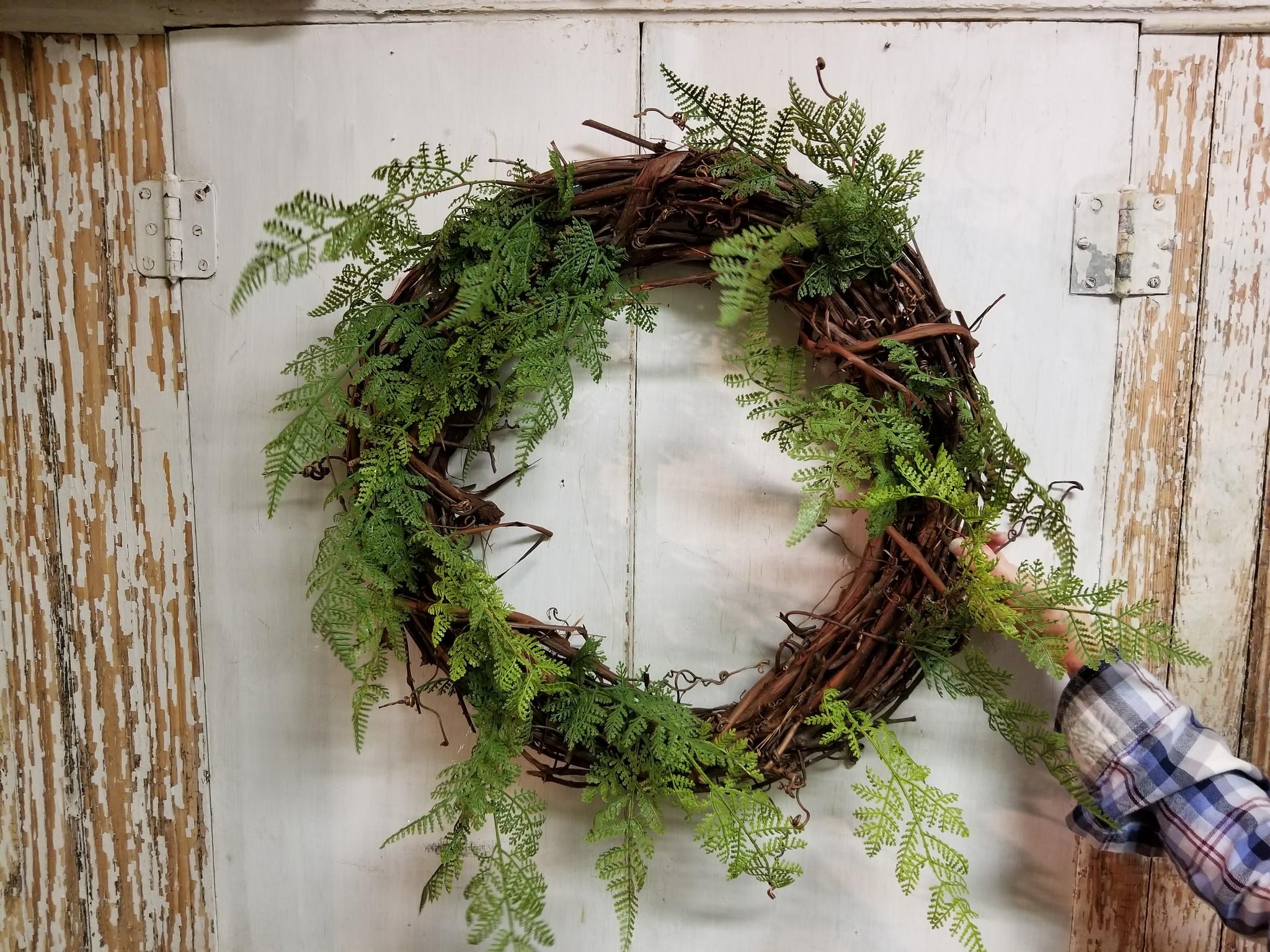 Greenery on wreath