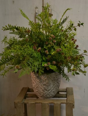 Custom Wildberry and Fern Arrangement