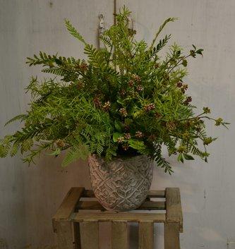 Custom Wildberry and Fern Arrangement
