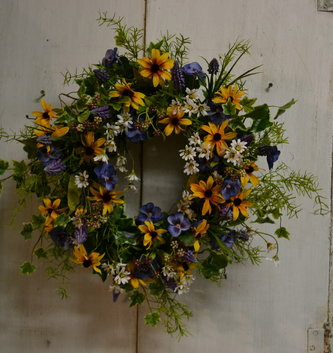 Custom Small Summer Wildflower Wreath