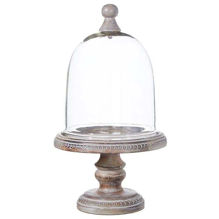 "17.5"" Graywashed Pedestal w/ Dome"