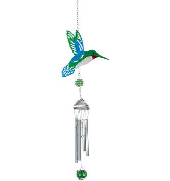 Mini Glitter Hummingbird Chime