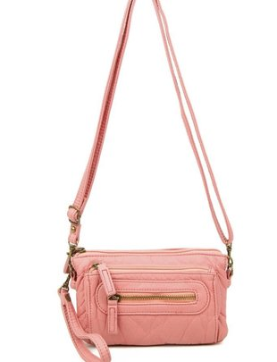 Pasadena Vegan Leather Crossbody Wristlet (5 Colors)