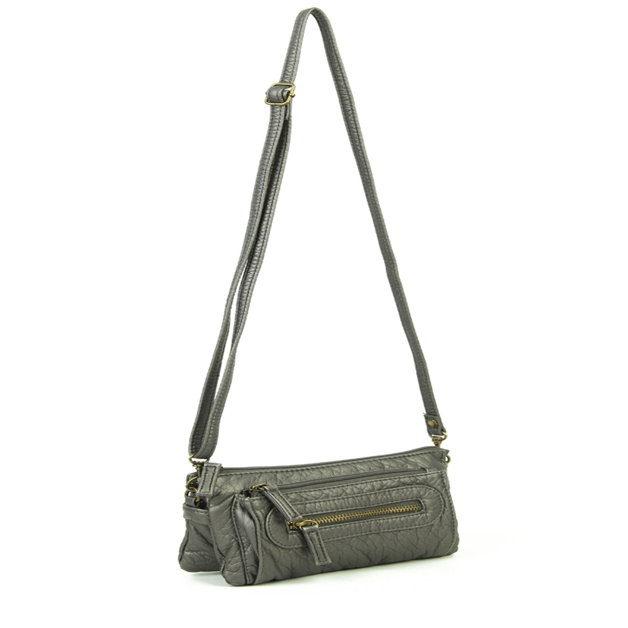 Pasadena Vegan Leather Crossbody Wristlet