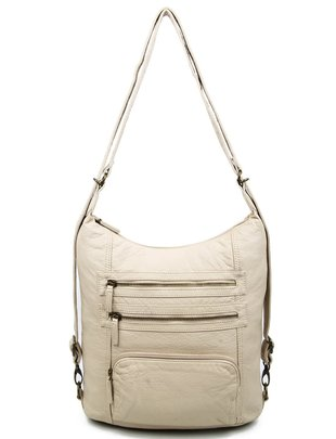 Pasadena Vegan Leather Backpack Purse (6 Colors)