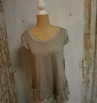 Gray Garden Lace Tunic
