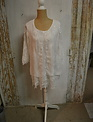 White Botanical Lace Tunic w/ Sheer Overlay