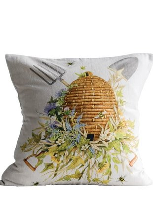 Square Garden Bee Hive Pillow