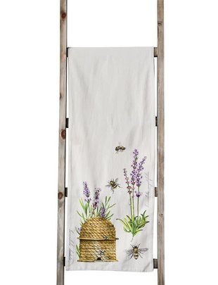 Lavender Bee Hive Table Runner