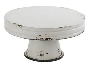 Distressed Enamel Pedestal