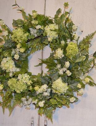 Custom Snowball Wreath