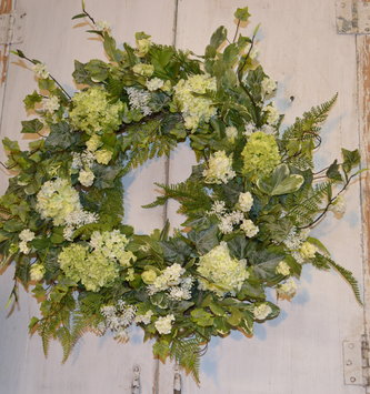 Custom Wild Snowball Wreath