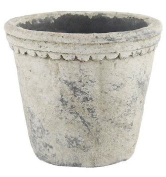 Scalloped Trim Distressed Pot