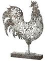 Metal Floral Rooster