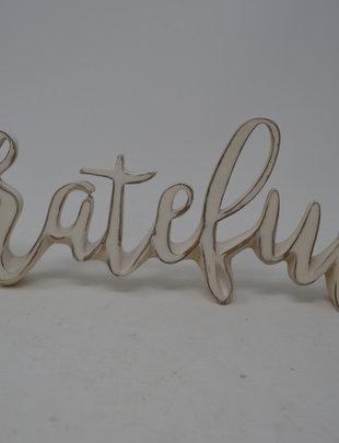Standing Grateful Sign