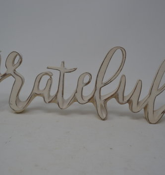 Standing Grateful Sign