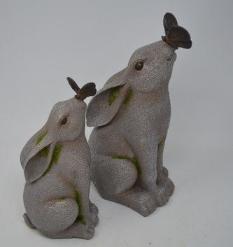 Gray Bunny Kissing Butterfly (2 Sizes)