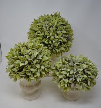 Dusty Sage Ball  Topiary (3 Sizes)
