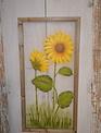 Painted Sunflower on Screen Art