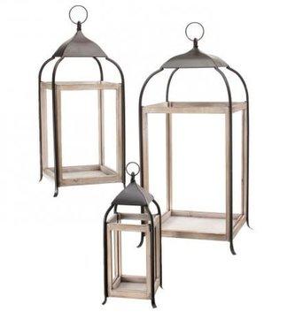 White Open Top Lantern (3 Sizes)
