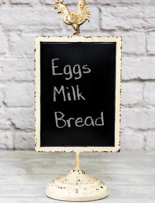 Rooster Blackboard Sign