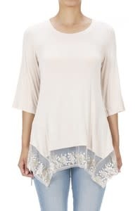 Layering Tunic with Floral Embroidered Lace