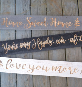 Wooden Etched Sign (3 Styles)