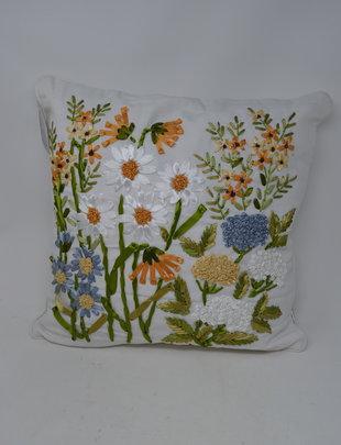 Wildflower Ribbon Art Pillow