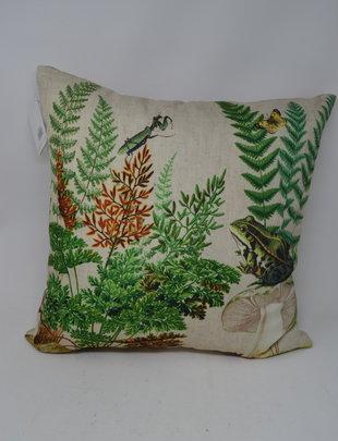 Indoor/Outdoor Fern and Frog Pillow