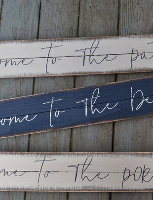 Welcome To Wooden Painted Sign (3 Styles)