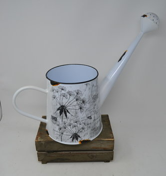 Black and White Vintage Watering Can