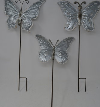 Galvanized Butterfly Stake