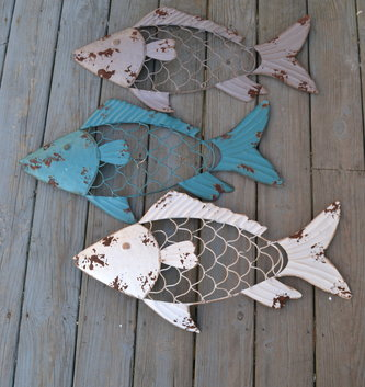 Metal Fish Wall Art