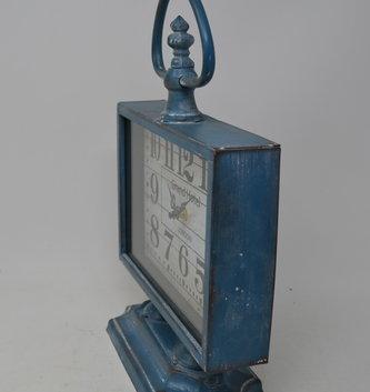 Vintage Blue Tabletop Clock
