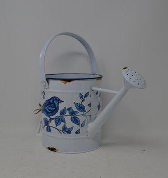 Enamel Blue Bird Watering Can
