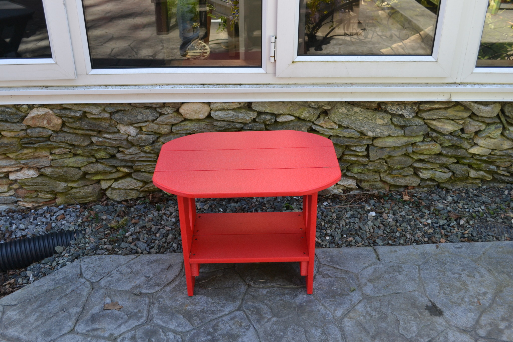 Outdoor Oval End Table