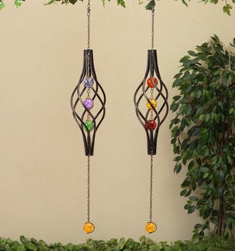 Hanging Spiral w/ Glass Balls (2 Styles)