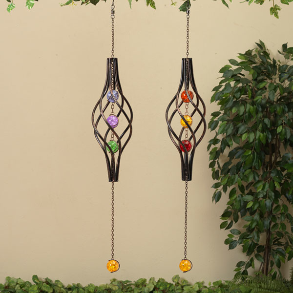 Hanging Spiral w/ Glass Balls