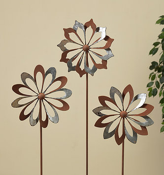 Rustic Metal Wind Spinner (3 Styles)
